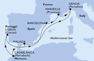 Lisszabon Marokkó  körút